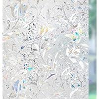 rabbitgoo, 3D Prywatność, folia okienna, wzór tulipanowy, dekoracyjny, bez kleju, folia statyczna, matowa folia okienna…
