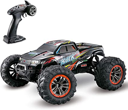 Amazon Com Hosim Large Size 1 10 Scale High Speed 46km H 4wd 2 4ghz Remote Control Truck 9125 Radio Controlled Off Road Rc Car Electronic Monster Truck R C Rtr Hobby Grade Cross Country Car Black Toys Games