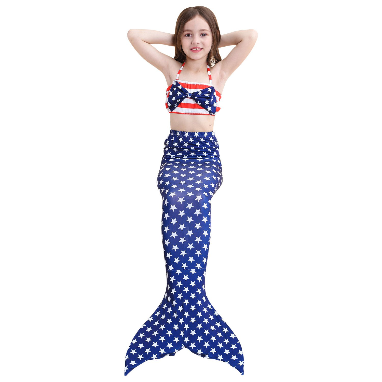 Kakawayi Girls Swimming Mermaid Tail Sets with Monofin by Kakawayi