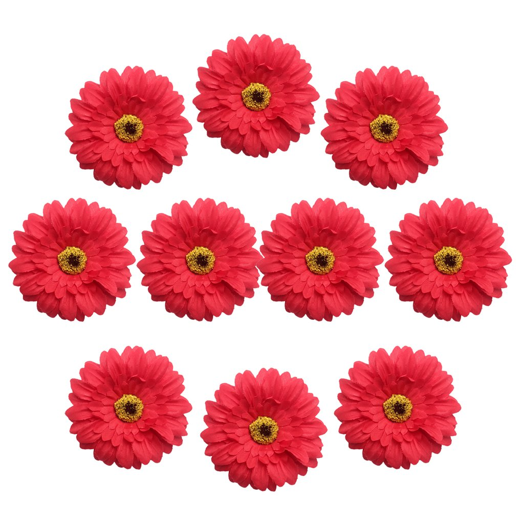 champagne as described MagiDeal 10 Pieces Handmade 7cm Large Artificial Gerbera Silk Daisy Flowers Heads DIY Scrapbooking Flower Kiss Ball For Wedding Party Home Decorations