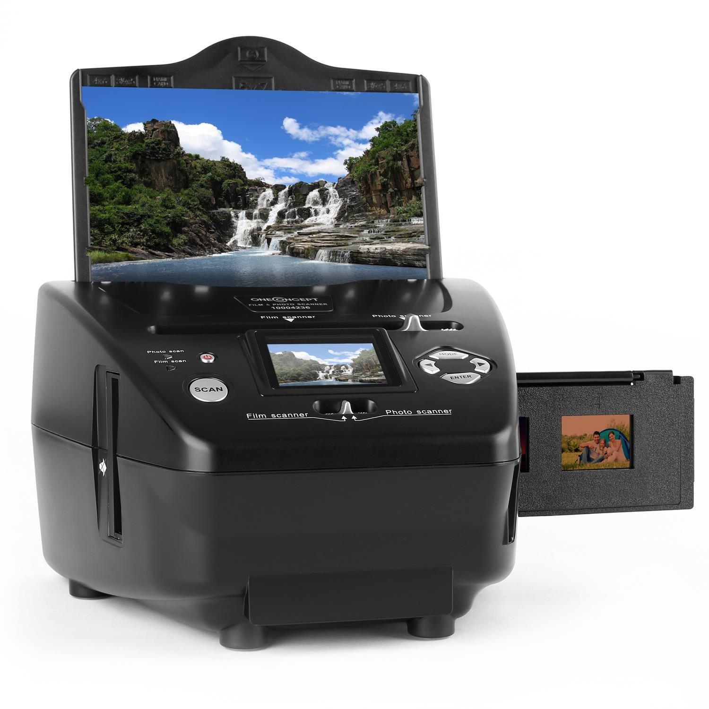 Oneconcept 179B /• Esc/áner de Fotos//Diapositivas Combinado /• Presentador de Diapositivas /• Procesador de fotograf/ías /• Negativos de 35 mm /• Uso sin Ordenador /• Mini USB 2.0 /• SD /• Negro