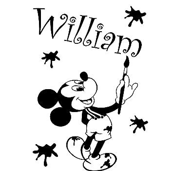Mickey Maus Mit Ihrem Gewahlten Namen 60 Cm X 40 Cm Farbe Wahlen 18