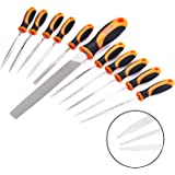 TACKLIFE 11-Piece Diamond Needle File And Alloy Steel File Set for Woodwork, Metal And Hobby Projects, 150 Grit - FS01