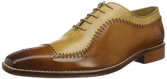 Melvin & Hamilton Clark 2, Zapatos de Cordones Brogue para Hombre, Marrón (Crust/Tan/Beige/LS-Nat), 40 EU