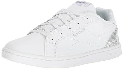 95504b2f97d8fa Reebok Baby Royal Complete CLN Sneaker, White/Silver Sparkle, 2