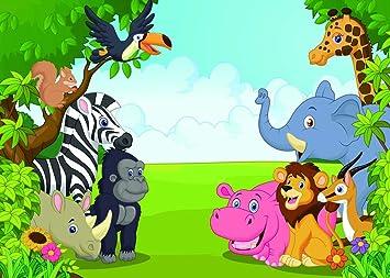 amazon com qian jungle safari photography backdrops animals photo