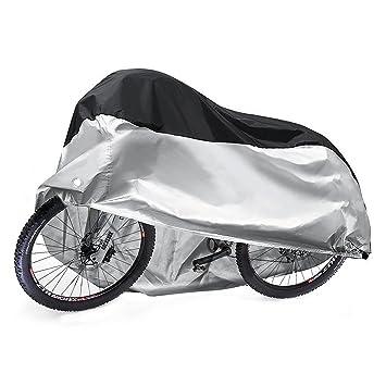 Funda Bicicleta, Diealles 190T Funda Bici Impermeable Exterior con Cerradura-agujeros y Bolso del Almacenaje para Bicicleta de Carretera de Montaña, ...