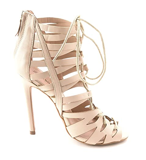 ZIGI SOHO Womens CAELIE Open Toe Special Occasion Strappy Nud Fx Size 75