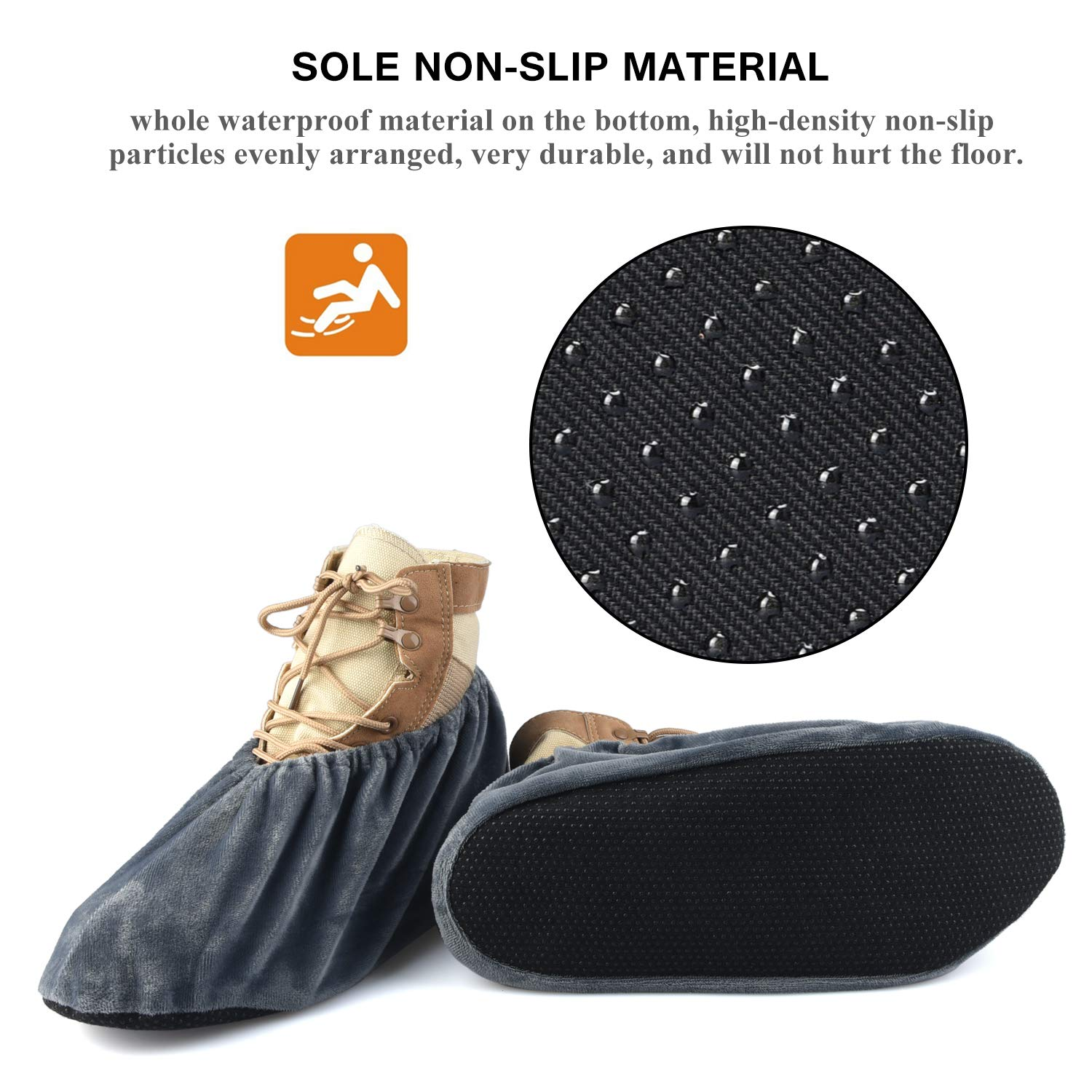 6af99f9aa0b 5 Pairs Non Slip Washable Reusable Shoe Covers For Household Thickened Boot  Covers - - Amazon.com