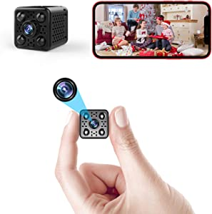 4K Spy Camera Wireless Hidden WiFi Small Nanny Cam with Night Vision Motion Detection Remote Viewing Mini HD Video Recorder for Home, Indoor, Outdoor with Phone APP (L21 4K WiFi Camera)