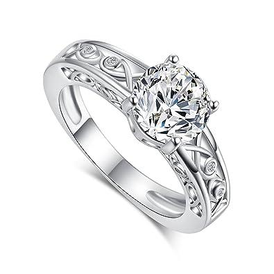 psiroy promesa anillo de relleno de topacio plata de ley 925 ...