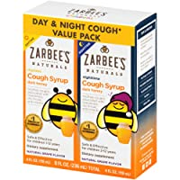 Zarbee's Naturals Children's Cough Syrup* with Dark Honey Daytime & Nighttime, Grape, 4 Ounces (Pack of 2)