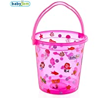 Baby Jem Bebek Banyo Kovası Desenli Şeffaf, Pembe
