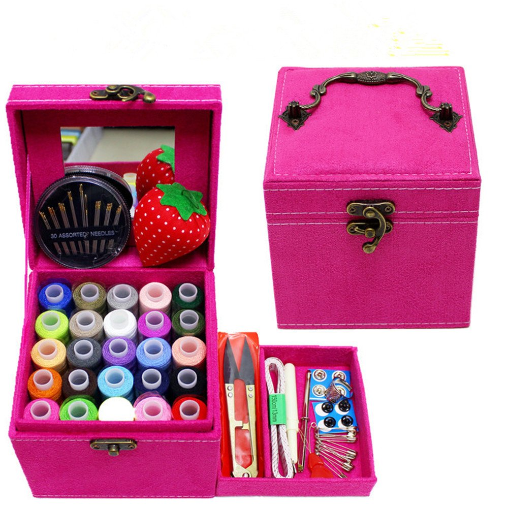 Mini Sewing Kit for Home Travel Emergency, Best Gift for Kids Girls Beginners and Adults, Premium Sewing Set Supplies with Scissors, Thimble, Thread, Needles, Tape Measure and Accessories Samaz