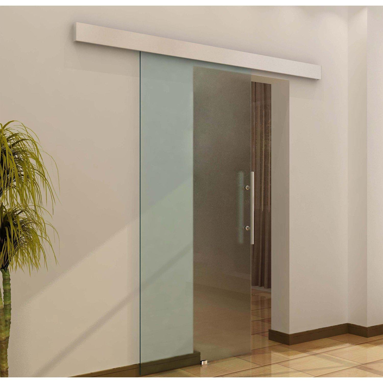 Puerta Corredera 205x90cm Puertas Vidrio Corrediza Deslizante  ~ Puerta Corredera Cristal Precio