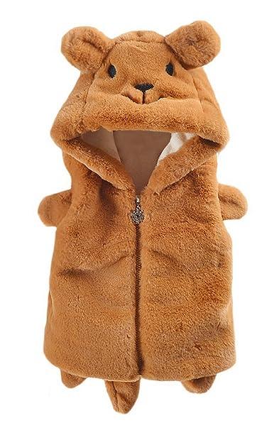 La Vogue Chaleco Sin Mangas Invierno Bebé Niñas Ropa Abrigo Animal Fiesta: Amazon.es: Ropa y accesorios