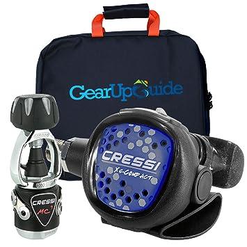 Amazon.com: Cressi compacto MC9 Regulador w/Gear Up Guía ...