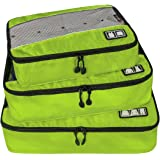 BAGSMART Travel Packing Cube (Small-Large 3 Piece) for Carry-on Travel Accessories, Suitcase and Backpacking (Single Compartment)