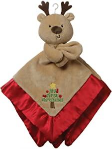 "GUND Baby My First Christmas Reindeer Lovey Plush Blanket, 12"", Brown"