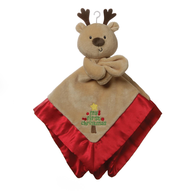 my first christmas reindeer lovey blanket