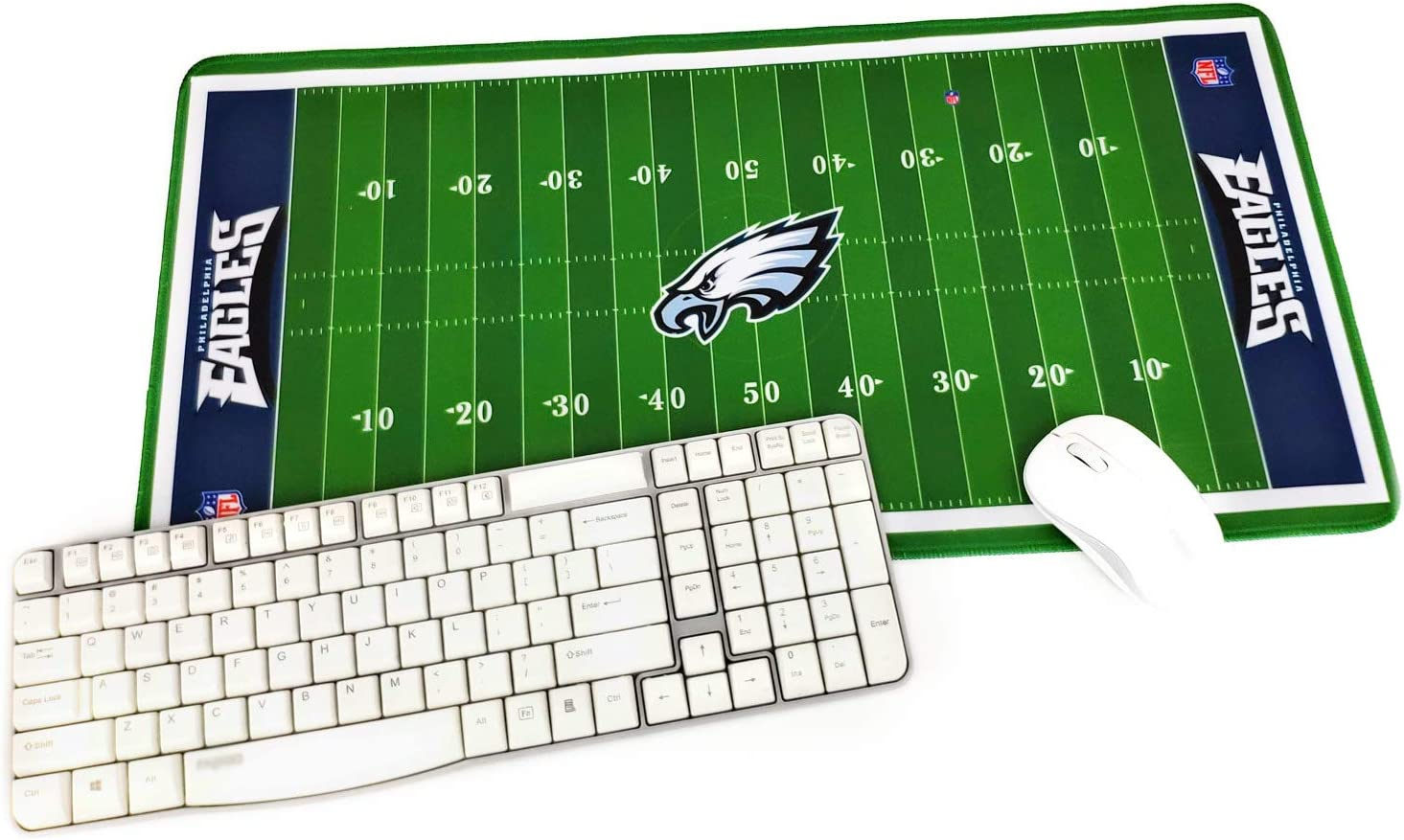 "TRIPRO Football Field Design Large Gaming Mouse Pad XXL Extended Mat Desk Pad Mousepad,Size 23.6""x11.8"",Water-Resistant,Non-Slip Base,for Eagles Fans Gifts"
