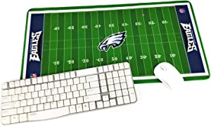 """TRIPRO Football Field Design Large Gaming Mouse Pad XXL Extended Mat Desk Pad Mousepad,Size 23.6""""x11.8"""",Water-Resistant,Non-Slip Base,for Eagles Fans Gifts"""