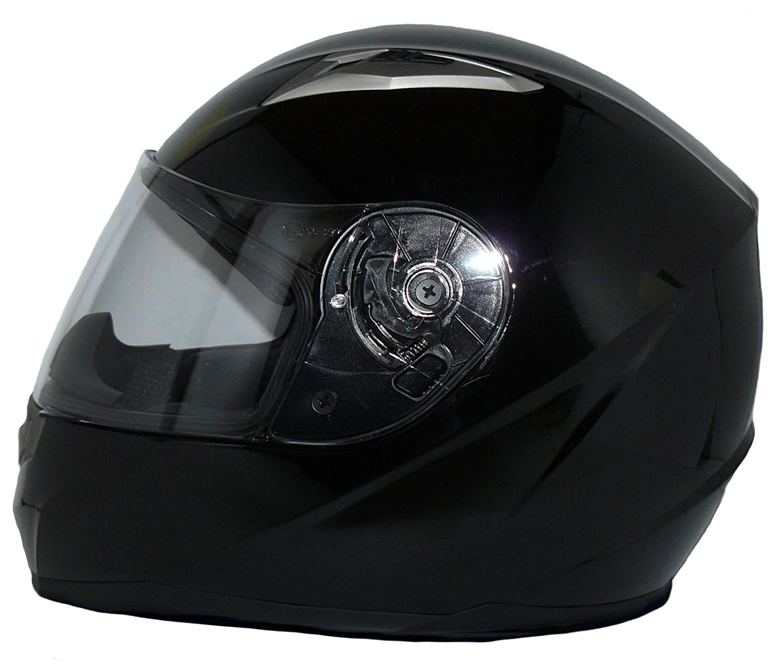 protectWEAR Casque de moto int/égral int/égral noir brillant V158-SG-M