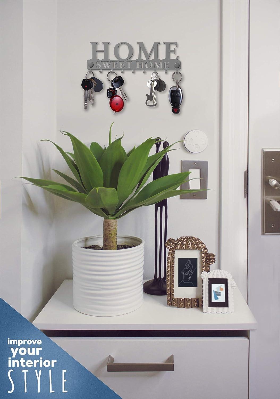 Decorative Car Vintage Decor Metal Hanger for Front Door M-KeyCases Key Holder Wall Mount Home Sweet Home Work 9-Hook Rack or Garage Store House Kitchen Vehicle Keys