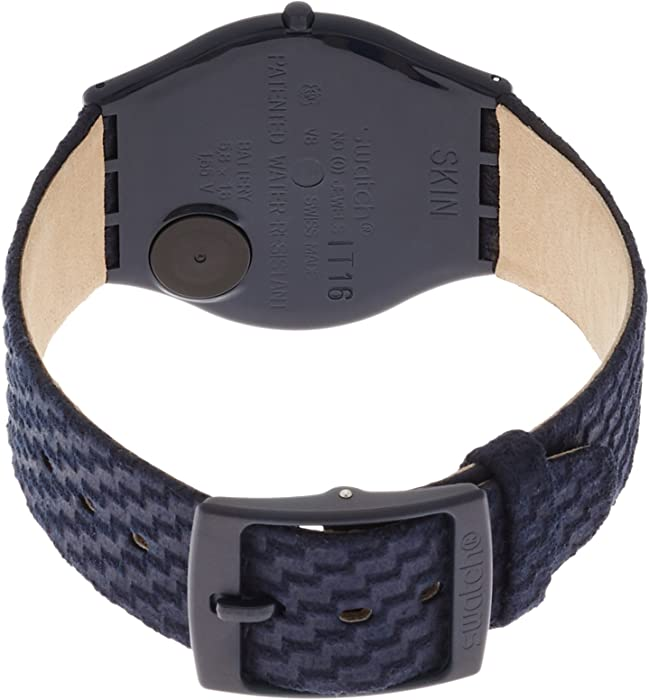Skin Blaumann Blue Dial Nylon Strap Ladies Watch SFN123