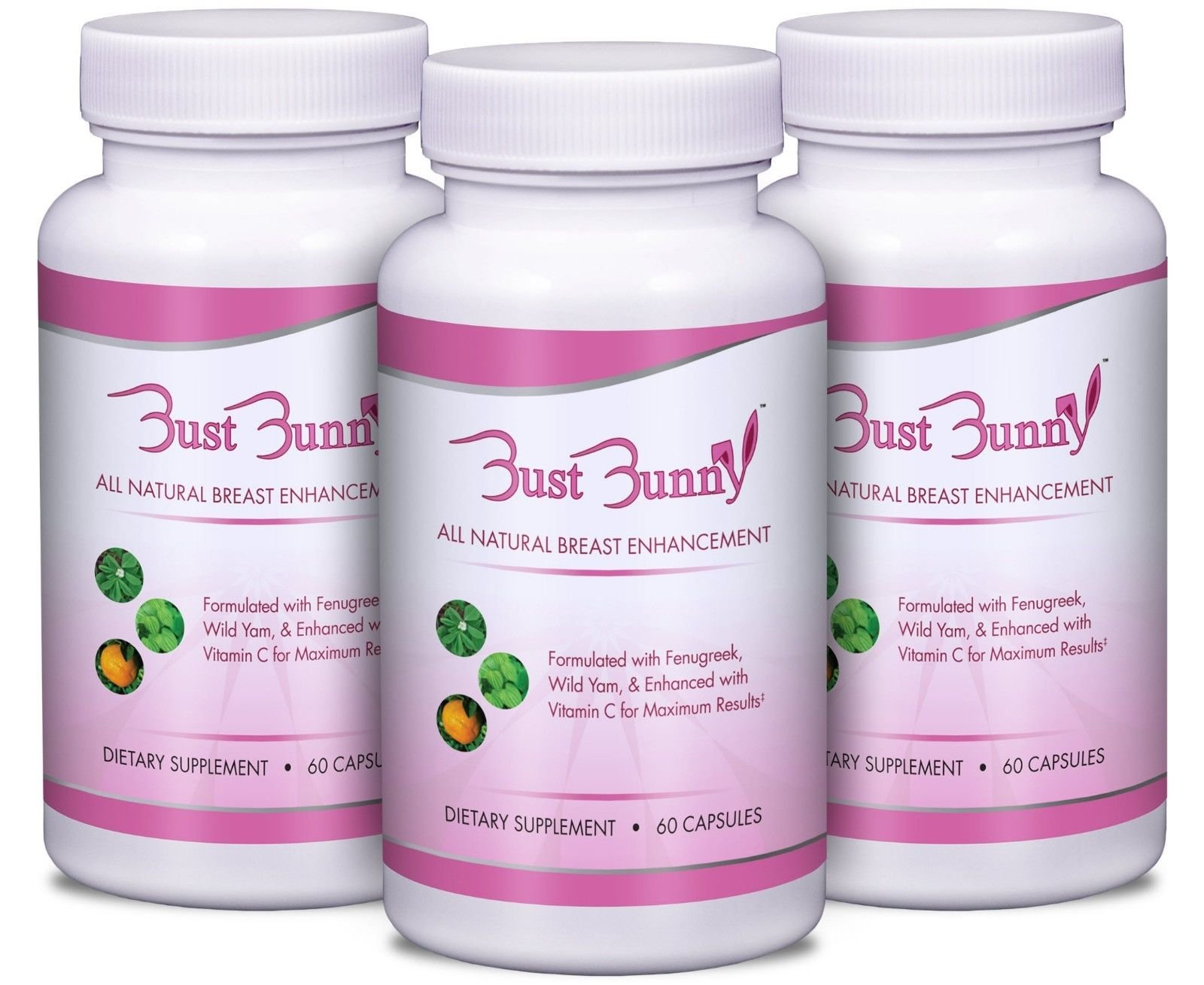 Amazon.com: Breast Enhancement Pills w/Vitamin C - 3 Month Supply | #1  Natural Way to Enlarge Breast and Increase Bust Size by BUST BUNNY: Health  & Personal ...