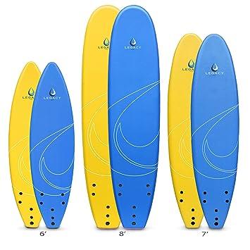 Legacy Soft principiantes Tabla de surf tablas de surf Foamie – 6 ft 7 ft 8