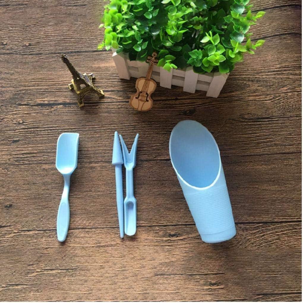 tJexePYK 1 Juego de jardín Jardinera Kit para siembra de plántulas de trasplante Suculentas Plantado Dispositivo de Herramienta de perforación de Fertilizantes Bonsai