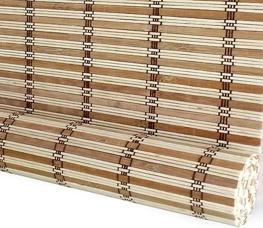 Persiana enrollable Sombrilla Cortina de aislamiento Bloqueador solar Bambú 80% Sombreado Persianas enrollables de bambú Persianas romanas Opciones de múltiples tamaños (Size : 85×100cm) : Amazon.es: Hogar