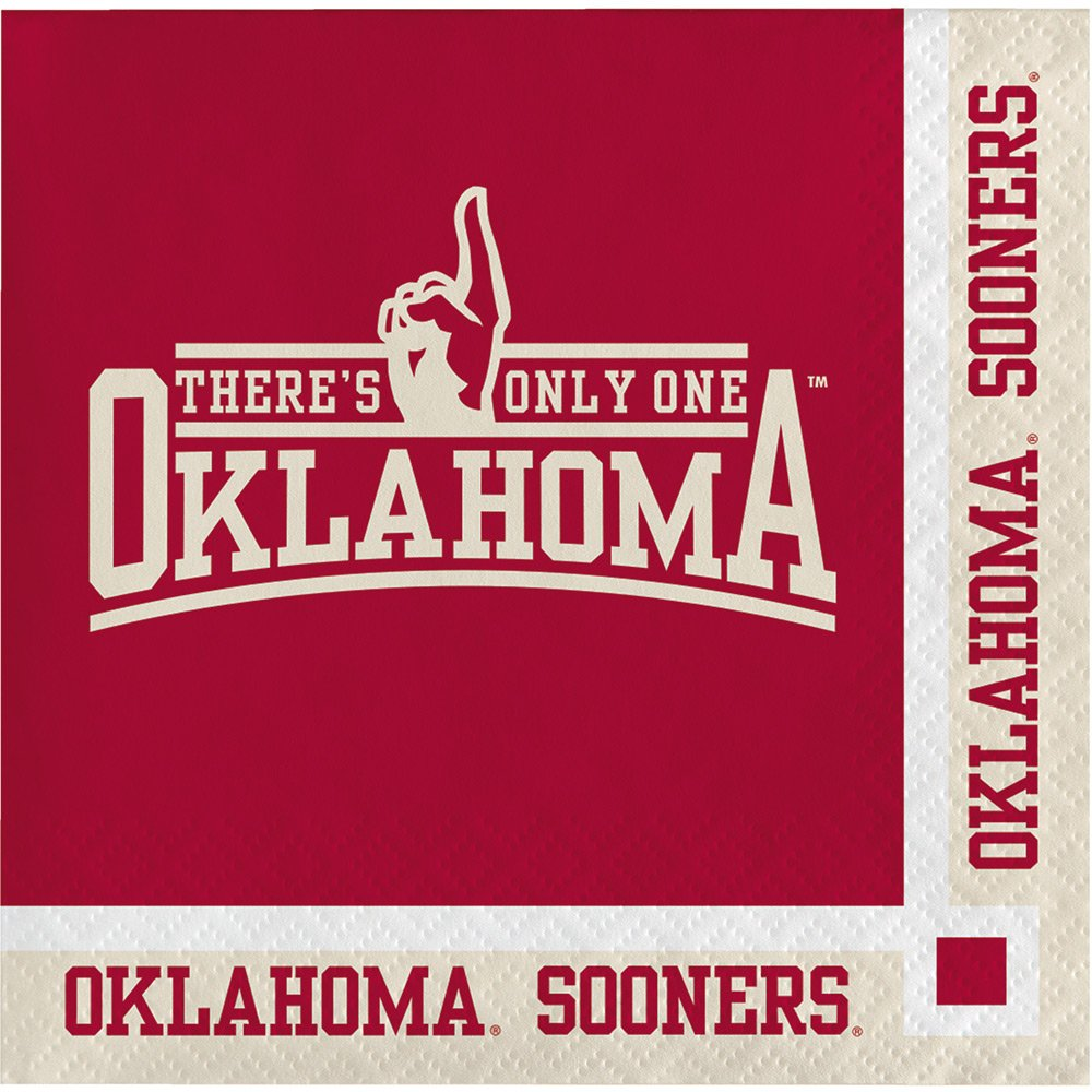 Oklahoma Sooners Beverage Napkins, 20-Count