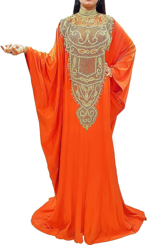 African Boutique Robe De Caftan Africain À Manches Longues En Lycra Avec Perles Violet