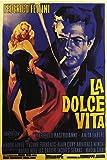 American Gift Services - La Dolce Vita Vintage Federico Fellini Movie Poster - 24x36