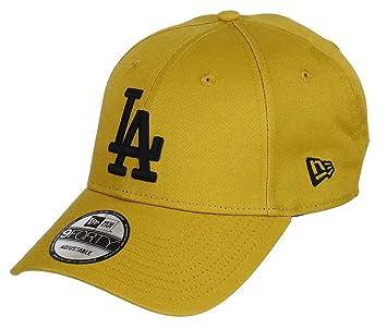 New Era Los Angeles Dodgers New Era 9forty Adjustable Cap League Essential  Mustard Black - d93b5b9f19c