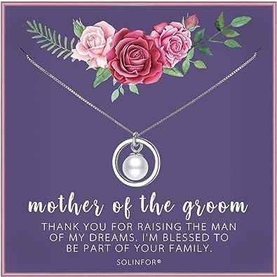 Amazon.com: Collar de plata de ley con perla de la madre del ...