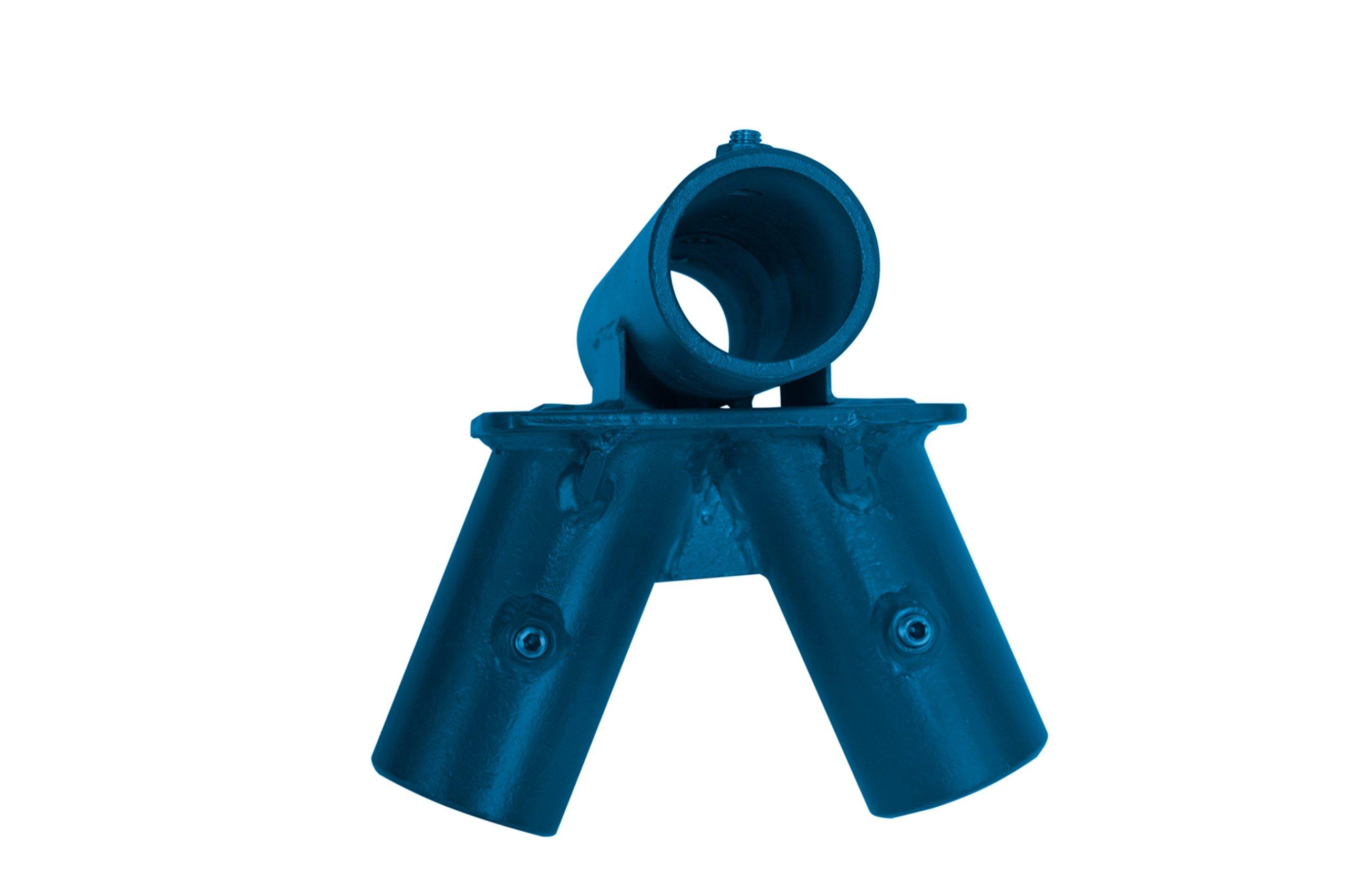 American Swing 2 3/8'' Blue 2 Legged Middle Frame Fitting