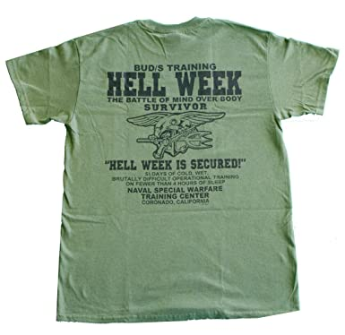US Navy Seals Hell Week T-Shirt Devgru UDT Underwater Demolition Team