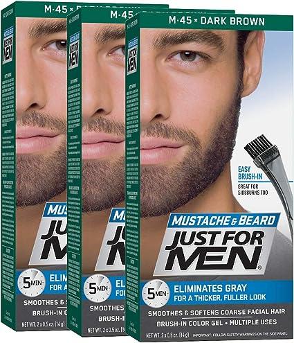 Just For Men - Tinte de barba y bigote para hombre, color negro ...