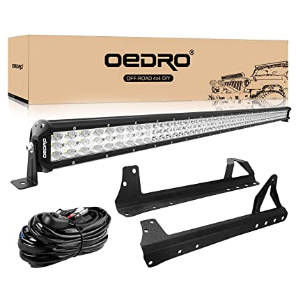 Admirable Amazon Com Led Light Bar Tri Row 52 Inch 758W Oedro Combo Off Road Wiring Digital Resources Counpmognl
