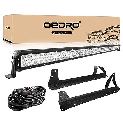 Tremendous Amazon Com Led Light Bar Tri Row 52 Inch 758W Oedro Combo Off Road Wiring 101 Carnhateforg