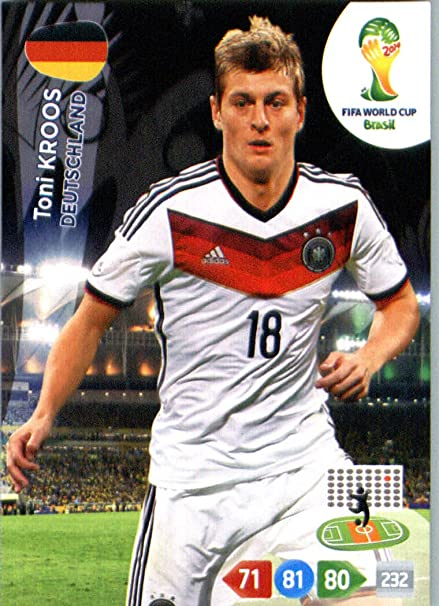 986da5721c9 2014 FIFA Panini Adrenalyn World Cup Soccer Card Toni Kroos Germany at  Amazon s Sports Collectibles Store
