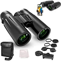 UBeesize 12x42 Compact Binoculars with Universal Phone Holder, Binoculars for Adults with Super Bright and Large View…