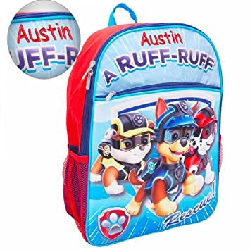 d0cf6fd13 Amazon.com | Personalized Paw Patrol 3D Molded Backpack | Kids' Backpacks