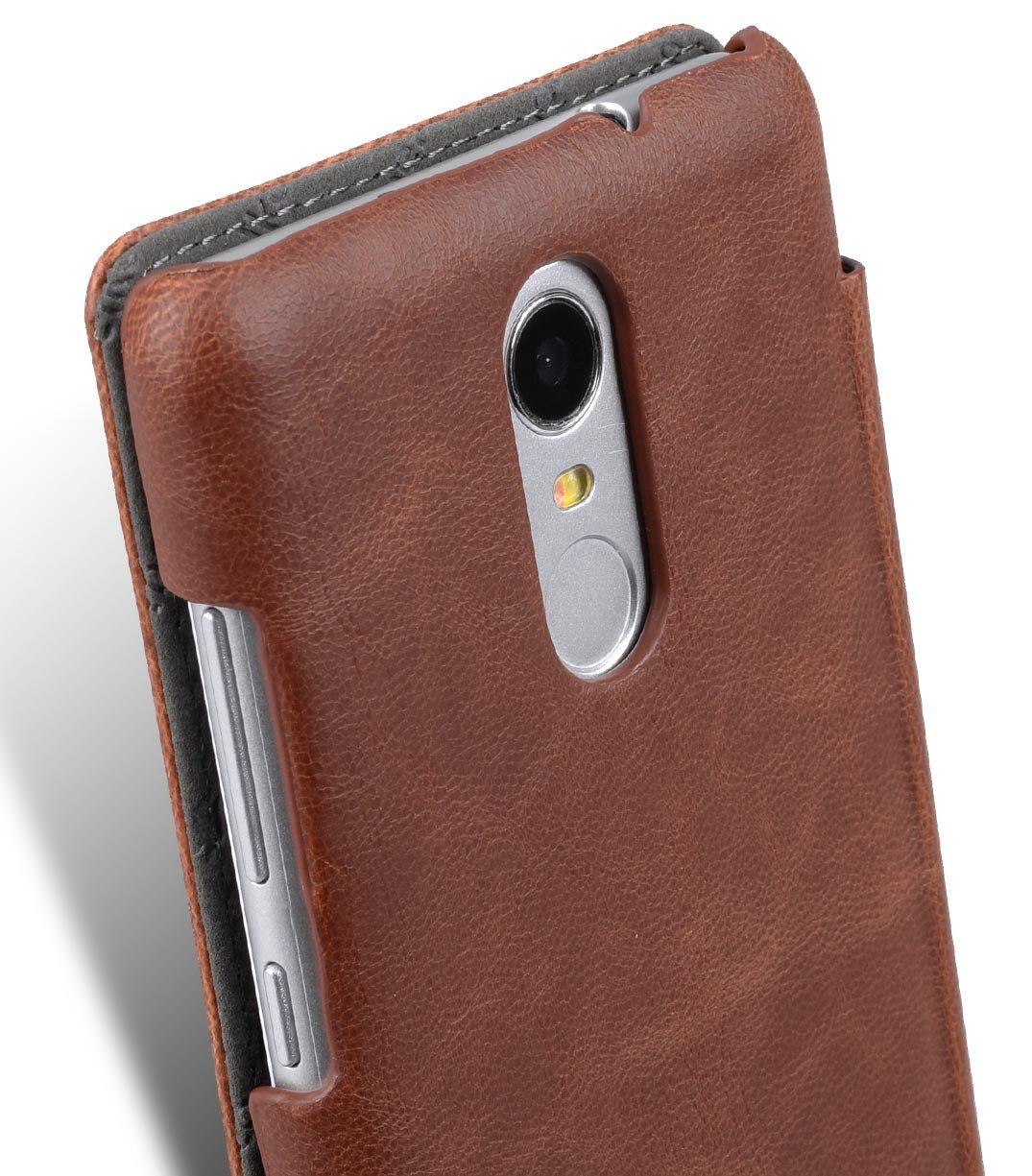 a4a30407540 Amazon.com  Xiaomi Redmi Note 3 Melkco Face Cover Book Type Mini PU Leather  Case Hand Made