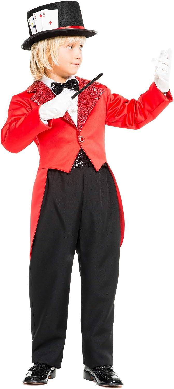 chiber Disfraces Disfraz de Mago Prestidigitador para Niño (Talla ...