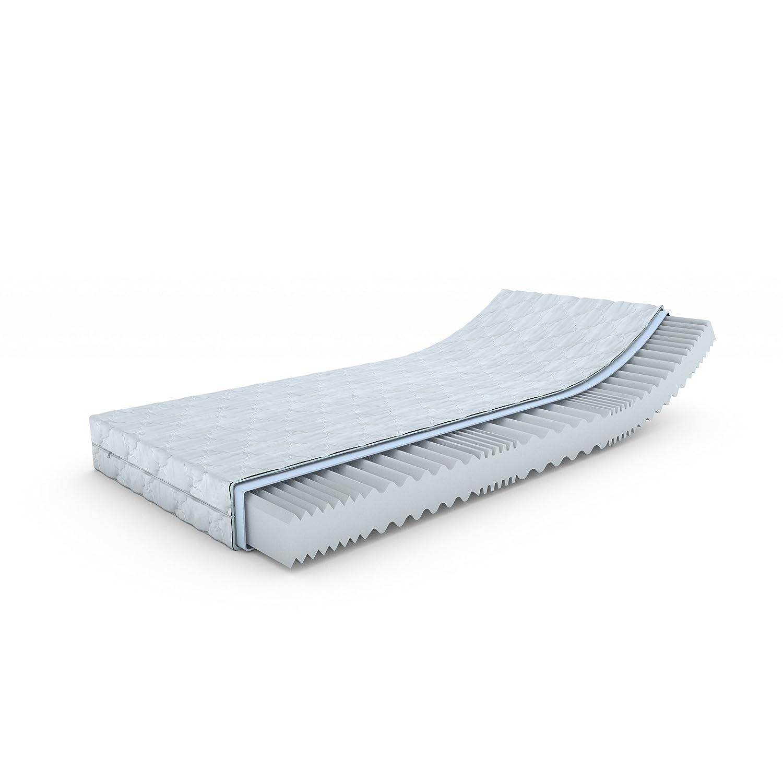 MSS® Aqua VitalFoam® 7 Zonen Matratze - H3 - 200x150 cm   7 Zonen Wellen Kaltschaum Wellenschnitt mit versteppten Klimafaserbezug waschbar bis 60 Grad   H3