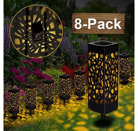 Luces de Jardin Solares,VIFLYKOO 30 LED Luz de Jardín Lámpara decorativa solar impermeable al aire libre IP65 Iluminación,utilizada para terraza,césped,terraza,fiesta,calzada,escaleras: Amazon.es: Iluminación